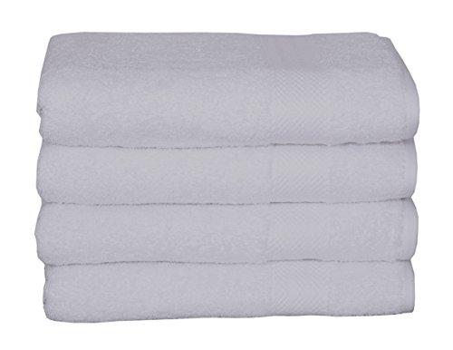 100% cotton towel set, 4 piece Bath Towel Set Turkish Towels, Quick Dry, Super Soft, Absorbent, machine washable, 27 x 54 (white, 4 pc set)