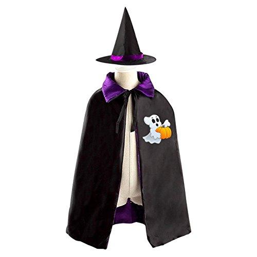 Naughty School Boy Costumes (naughty Ghost Children Kid Fancy Durable Costume Cape Cloak with Hat Halloween)