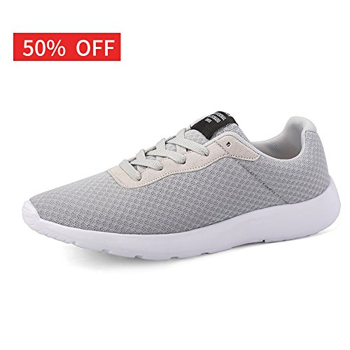 7e77ff535f4 EZUOGO Men's Running Shoes Sport Athletic Sneakers/Men's breathabel mesh  Walking Shoes (10D(M) US, Gray)