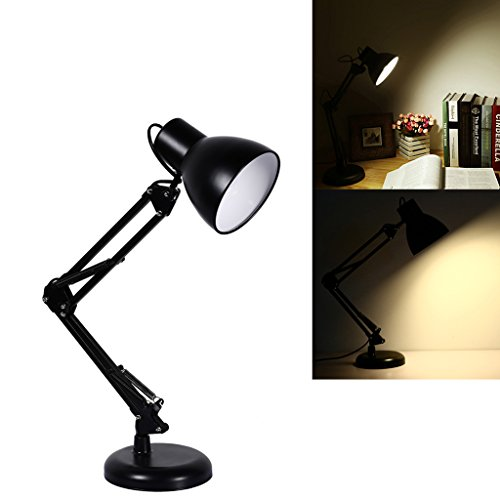 S&G Swing Arm Desk Lamp, Heavy Base Architect Spring Balanced Table Lamp, Black Painted Lamp - Antique Green Table Lamp