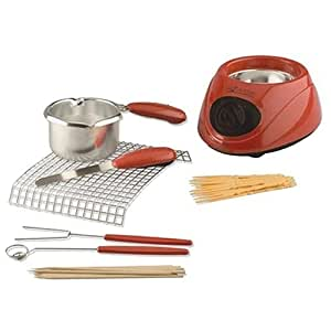 Chocolatiere - Electric Chocolate Melting Pot in Red