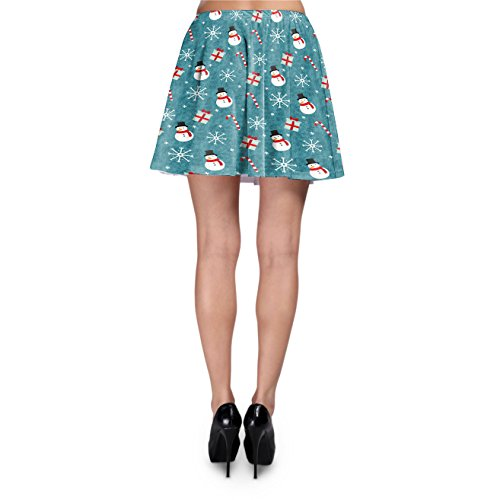 Snowmen and Candy Canes Skater Skirt Rock XS-3XL EadspUxsO