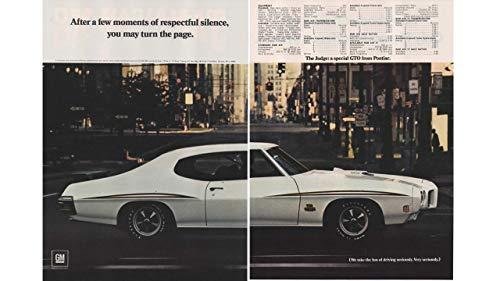 Magazine Print Ad: 1970 Pontiac GTO, Specifications,