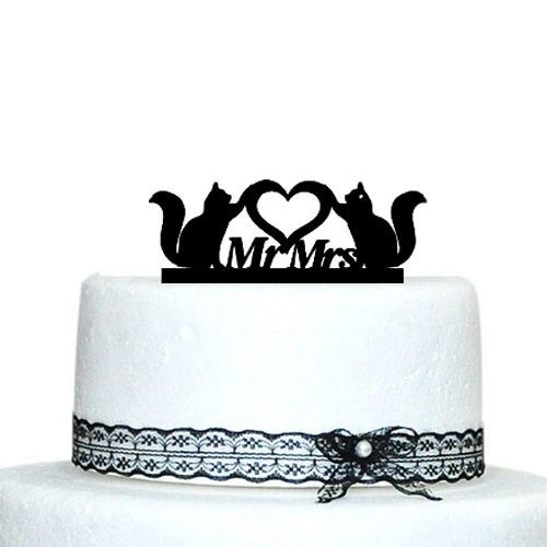 Mrs Wedding Cake Topper Lovers product image