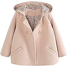 Sweety, Girls Hooded Coat Lightweight Soft Wool Double Breasted Colorful Jacket