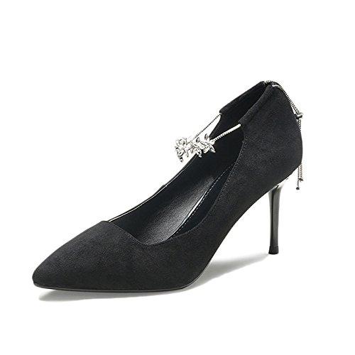 UK Rouge 5cm Party Chaussures 5 Black 4 EU Strass Mariage Haute Femme Nightclub Sexy 7 Mode Talons Cour 37 De Travail U8PdqZ