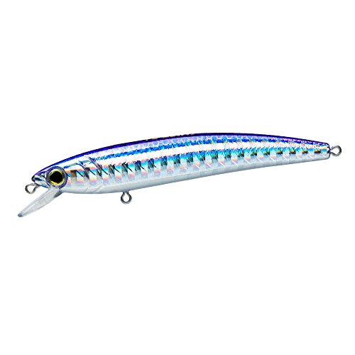 Yo-Zuri F1163-M177 Pins Minnow Floating Diver Lure, Silver Blue