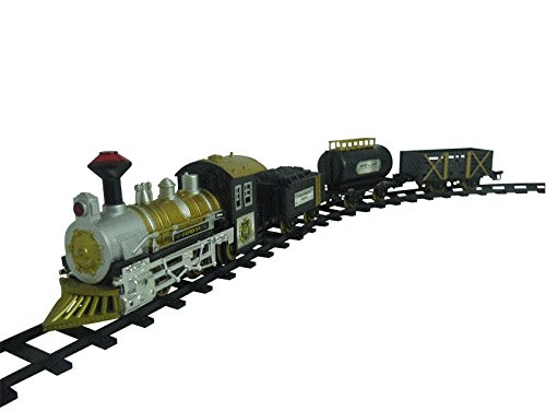 FAST FORWARD CLASSIC LOCOMOTIVE TRAIN SET, With Light And Sound Battery Operated Railway Car By Toytary™