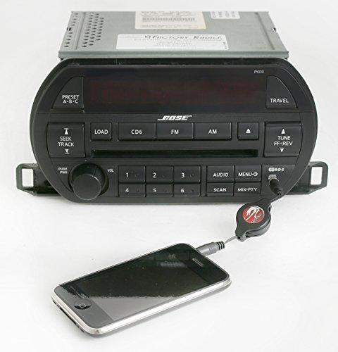 Nissan Input Aux (Nissan 2002-2003 Altima Bose Radio AM FM 6 Disc CD w Aux Input PY030 281858J200)