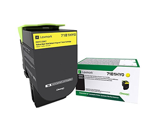 Lexmark 71B1HY0 CS417dn CX417de CS517de CX517de Yellow High Yield Return Program Cartridge Toner