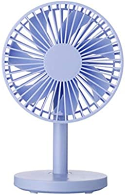 12.7 10 20cm // 5.08 4 8 Inches, Black//Blue//Powder//White Yougou01 Electric Fan Give 1.5 M Data Cable Color : Blue Large Wind Desktop Desktop Fan Portable and Carry