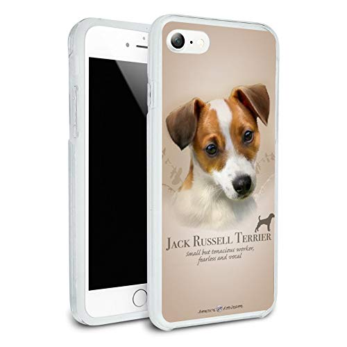 Jack Russell Terrier Dog Breed Protective Slim Fit Hybrid Rubber Bumper Case Fits Apple iPhone 8