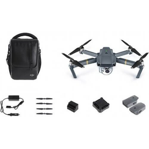 DJI Mavic Pro Bundle with Shoulder Bag, Props, Car Charger and 2 Extra Batteries by DJI