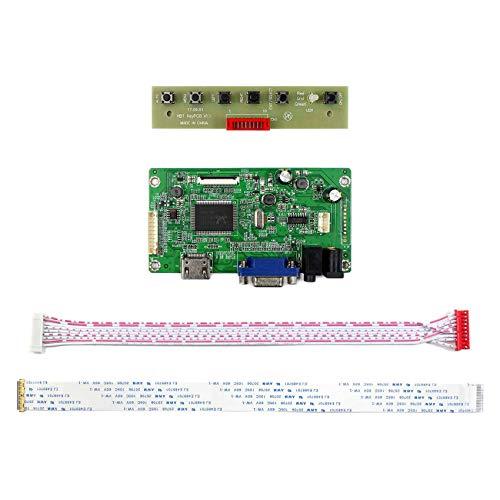 HDMI+VGA Input Controller Board Kit LCD Driver Board For B156HAN01.1 LP156WF4 11.6'' 13.3'' 14'' 15.6'' 1920x1080 30Pins edp LCD Screen by LCDBOARD (Image #1)