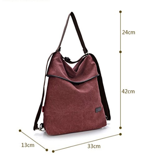 School Work for Bag Women Retro DcSpring Cross Handbag Body Travel Shoulder Canvas Vintage Backpack Bag Blue 6A77qpwH