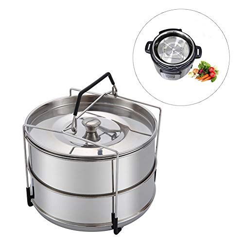 favourall Dampfgarer Acero Inoxidable dampfkorb, Acero Inoxidable Cocinar al Vapor para Arrocera y woks colocarse en…