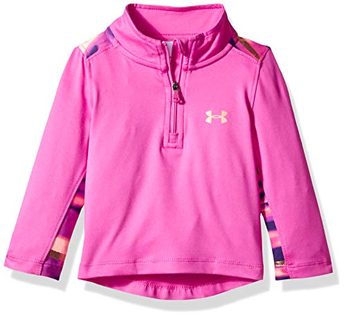 Under Armour Baby Girls Training 1/4 Zip Sweater, Flour Fuchsia V, 24M