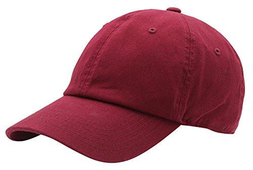 Cap Ball Outdoor - AZTRONA Baseball Cap for Men Women - 100% Cotton Classic Dad Hat, BUR Burgundy