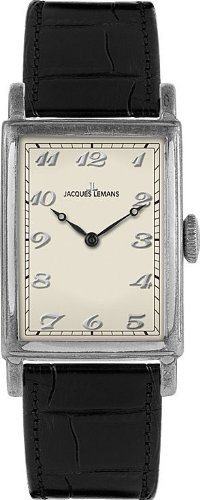 Jacques Lemans Nostalgie N-202A Ladies Black Leather Strap Watch