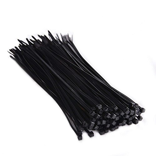 Nylon Zip Ties (Pack of 100) 8 Inch Multi-Purpose Cable Ties, Self Locking Cabie Ties With Ultra Strong Plastic(Black).OUPENG