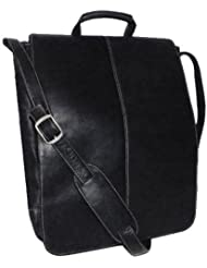 Royce Leather 17 Inch Colombian Leather Laptop Messenger Bag, Black, One Size