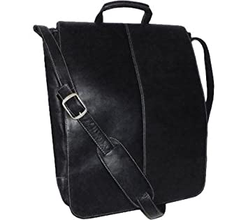 VLCSVM-BLK DBA Royce Leather Royce Leather 17 Inch Laptop Messenger Bag in Colombian Leather Black One Size EMPORIUM LEATHER