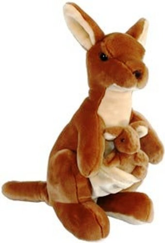 Kangaroo Plush Toy (KANGAROO AND JOEY PLUSH STUFFED ANIMAL TOY 20 H by Unipak)