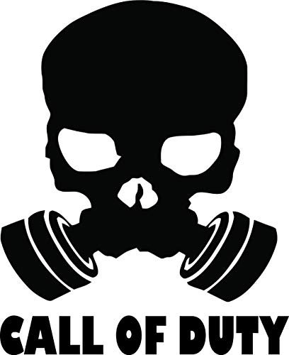 Call of Duty Skull Gas Mask Kill Killer Gun GAMER WALL DECALS FOR BOYS ROOMS / X-Box PlayStation Video Game Decal Kids Bedroom / Childrens hobbies Playroom Boy Toy Teenagers Computers Size 20x20 inch ()