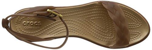 Heel Crocs Wedge Women's Gold 81d Block Sandal Isabella Orange Bronze qqrat1