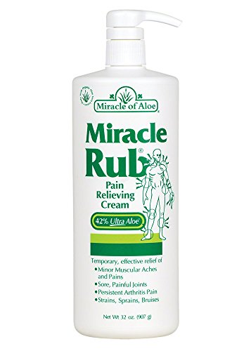 Miracle of Aloe, Miracle Rub Pain Relieving Cream with 42% UltraAloe - 32 ounce bottle with pump