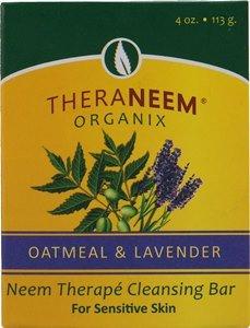 TheraNeem Oatmeal Lavender & Neem Oil Cleansing Bar ()