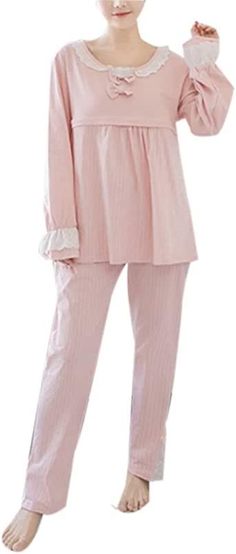 Pijamas para Mujeres Camisón Invierno - Ropa de Dormir de Maternidad Traje Algodón: Amazon.es: Ropa y accesorios