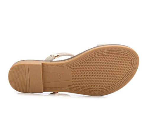 Con Fondo Pantofola Da Studentesco Minimalista Piatto Donna Bohemian Sandals Aqua White CXHq64ww