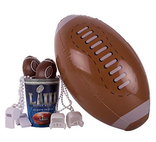 Super Bowl 53 Football Fan Tailgate Favor Cup 8pc 1 Person Party Pack ()