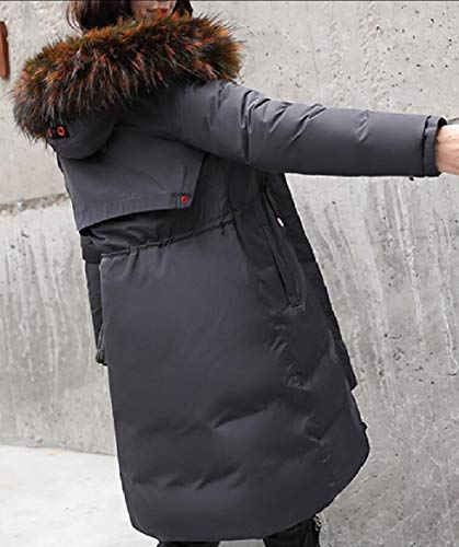 Sleeve security Gery Winter Puffer Long Long Jacket Hooded Down Women's PPFwxT