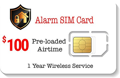 $100 Prepaid Alarm SIM Card for GPS Trackers GSM Home Securi