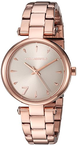 Karl-Lagerfeld-Womens-Aurelie-Quartz-Stainless-Steel-Casual-Watch-ColorRose-Gold-Toned-Model-KL5005