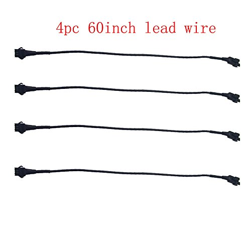 Kingshowstar 4pc 60inch Extension Cords for Use With 5050 LED SMD RGB NEON Accent Kits for LED motorcycle ATV car Light Multi-color Neon Strip ...