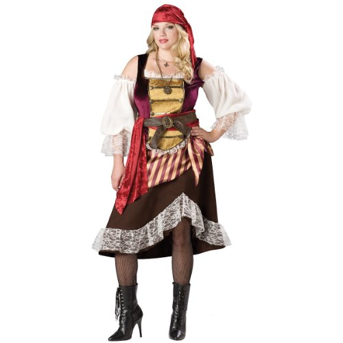 Deckhand Costume (Deckhand Darlin Adult Costume - Plus Size 3X)