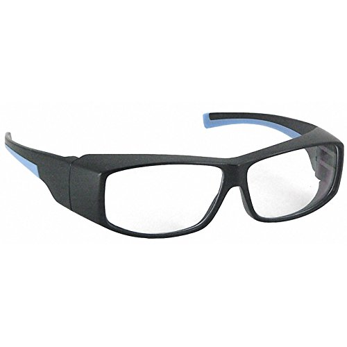Galeton 11021 SpekZ Anti-Scratch Lenses Fit Over Safety Glasses with Rubberized Temples, Black - Sunglasses Budget Eyewear