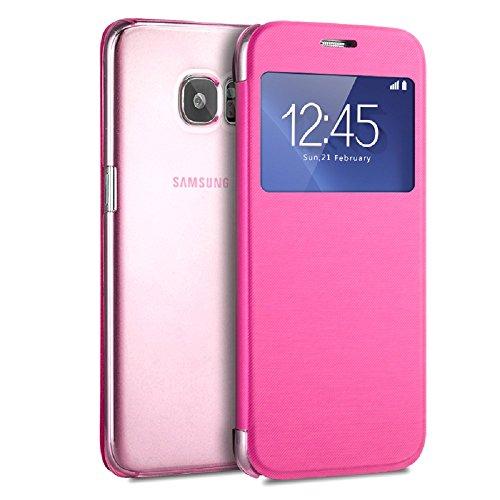 Galaxy S7 Case, Pasonomi® [View Window] Ultra Slim