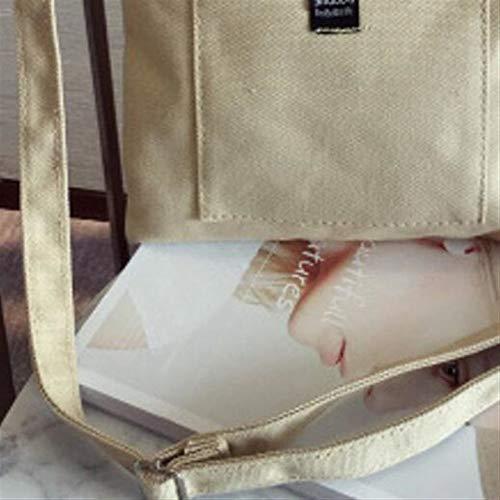 Eenvoudige Tas Schouder Beige Japanse Canvas Hangende Brief Literaire Home Meidi Stijl Sfeer 15wHxqR4