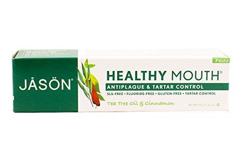 (Jason Natural, Healthy Mouth, Antiplaque & Tartar Control Toothpaste, Tea Tree Oil & Cinnamon, 4.2 oz (119 g) - 2pc)