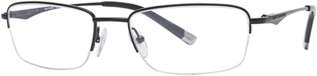 HARLEY Limited price DAVIDSON Eyeglasses HD Ranking TOP2 373 55MM Satin Black