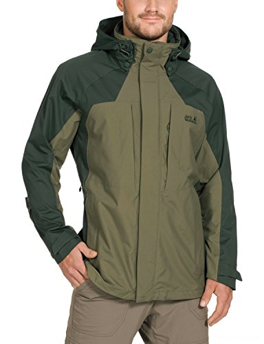 Green Burnt Protection Olive Weather Jacket Jack Texapore Wolfskin Denali Men's SwYBq80q