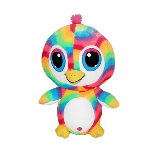 (ToySource Penton the Greatful Penguin Plush Collectible Toy, Rainbow, 9 Inches)