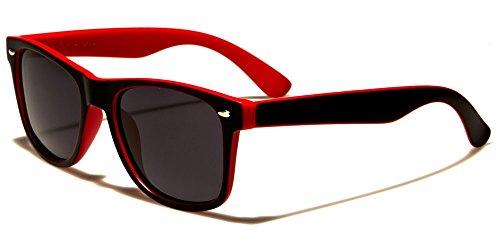 Retro Rewind Classic Polarized Wayfarer Sunglasses Black Red w Soft - Sunglasses Wayfarer Red