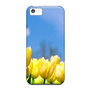 For Iphone Case, High Quality Watermill Tulips In Holl For Iphone 5c Cover Cases