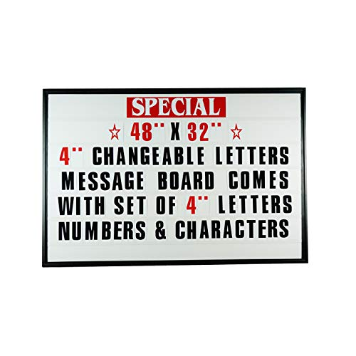 48''x32'' Outdoor Changeable Letter Message Board Marquee Sign with Metal Frame - Clear Acrylic Protection Cover and 4 Inch Letters Set! by Mysignboards (Image #8)