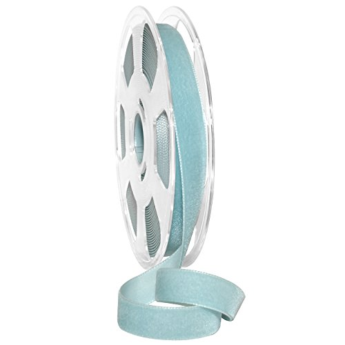(Morex Ribbon Nylvalour Velvet Ribbon, Nylon, 5/8 inch by 11 Yards, Hydrangea, Item 01215/10-625, 5/8